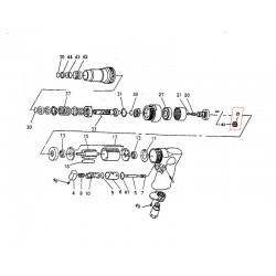Koło zębate przedniej przekładni planetarnej DS1610 Metabo 2