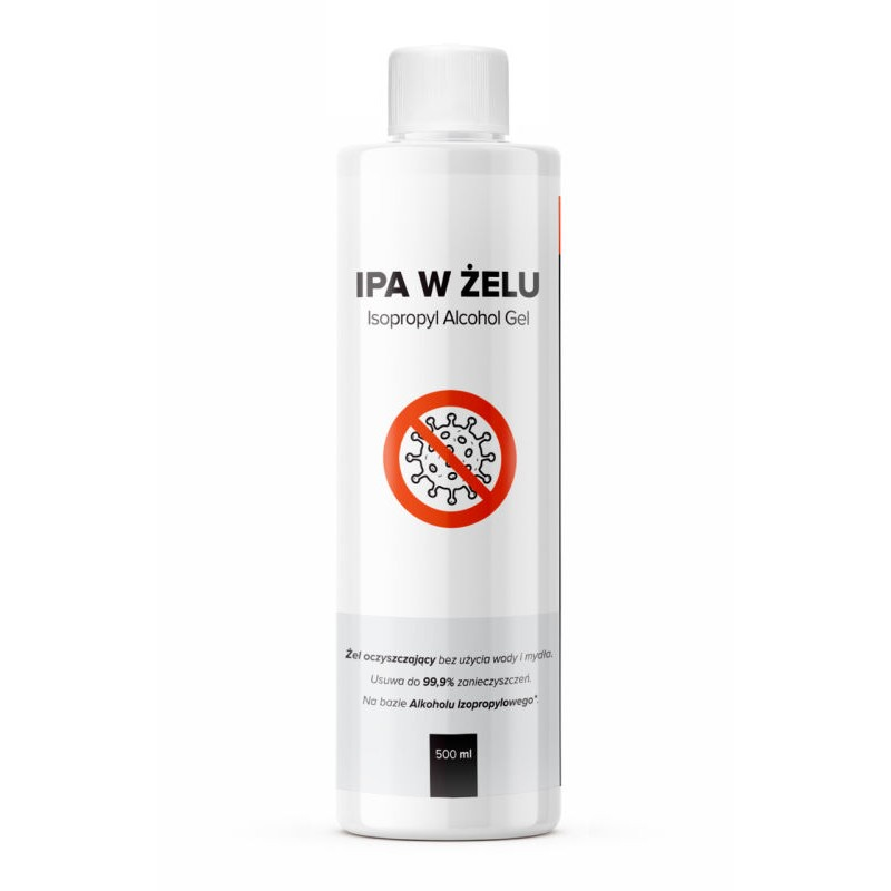 IPA w żelu 500ml alkohol izoprpylowy
