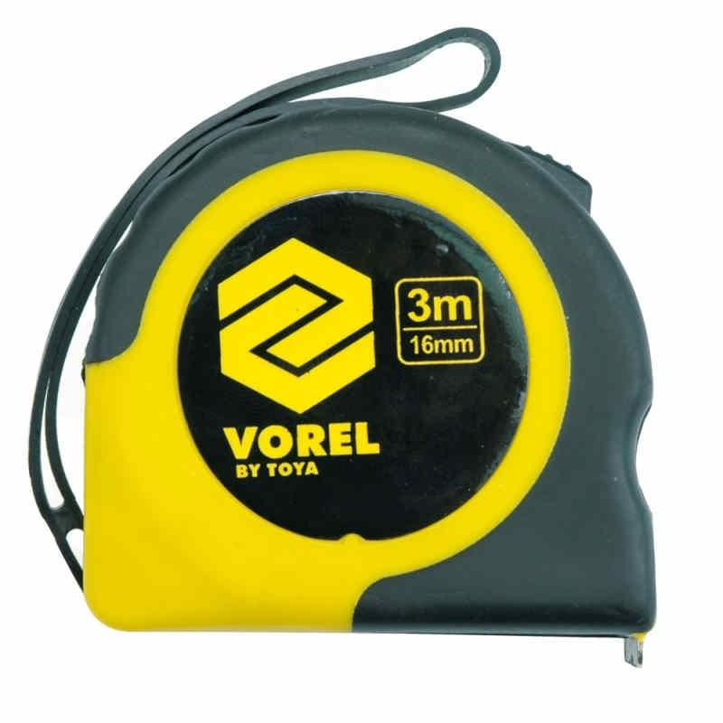 Miara zwijana żółto-czarna 3m x 16mm Vorel